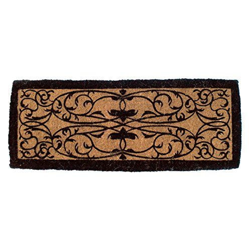 Entryways Iron Grate Rectangle Extra Thick Hand Woven Coir Doormat 18 by 47Inch *** Check out this great product.