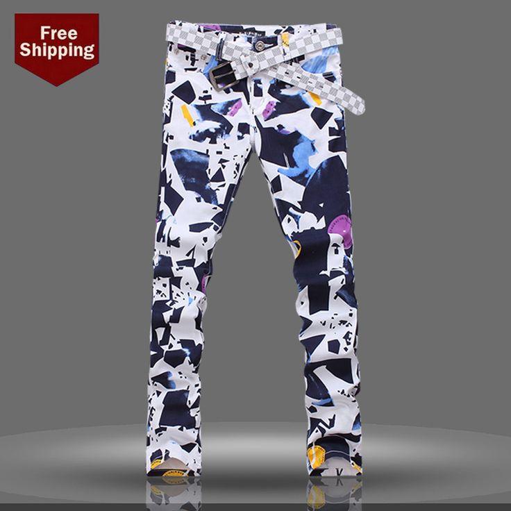 Cheap Moda marca denim jeans hombres jeans rectos macho marca italiana alta calidad, Compro Calidad Jeans directamente de los surtidores de China:              Permita por favor 1-2 cm diferencia debido a la medida manual, gracias (toda la medida en el cm y observa p