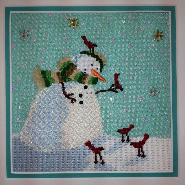 Cbk Needlepoint Snow Man Comes With Stitch Guide