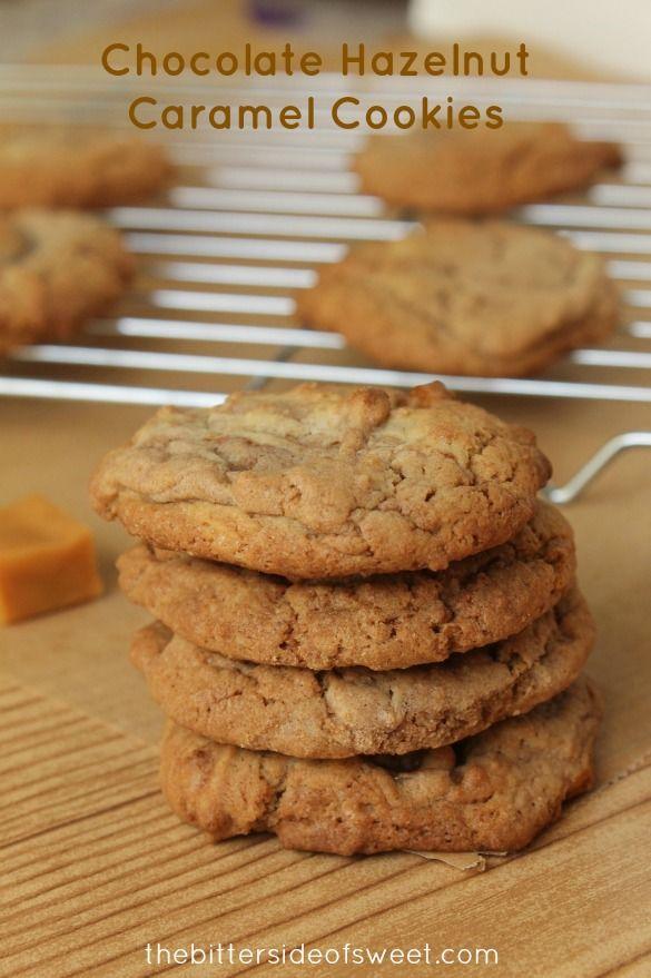 Chocolate Hazelnut Caramel Cookies + a giveaway - theBitterSideofSweet