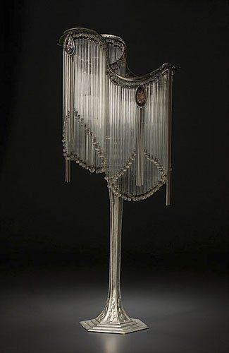 art nouveau. Hector Guimard Table Lamp.