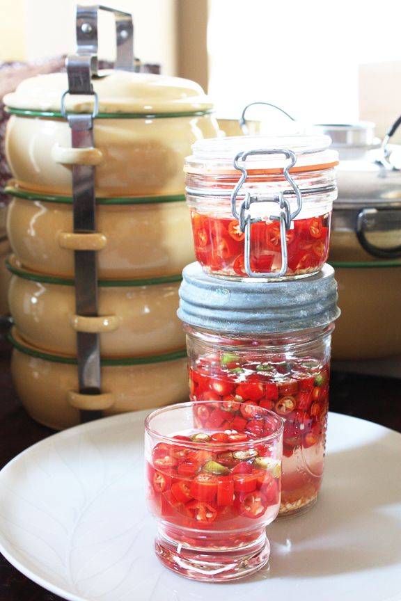 Vinegar with Pickled Thai Chilies