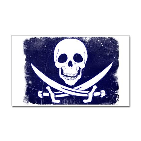 Jolly Roger Rectangle Decal: Rogers Rectangle, Jolly Rogers, Rectangle Decals
