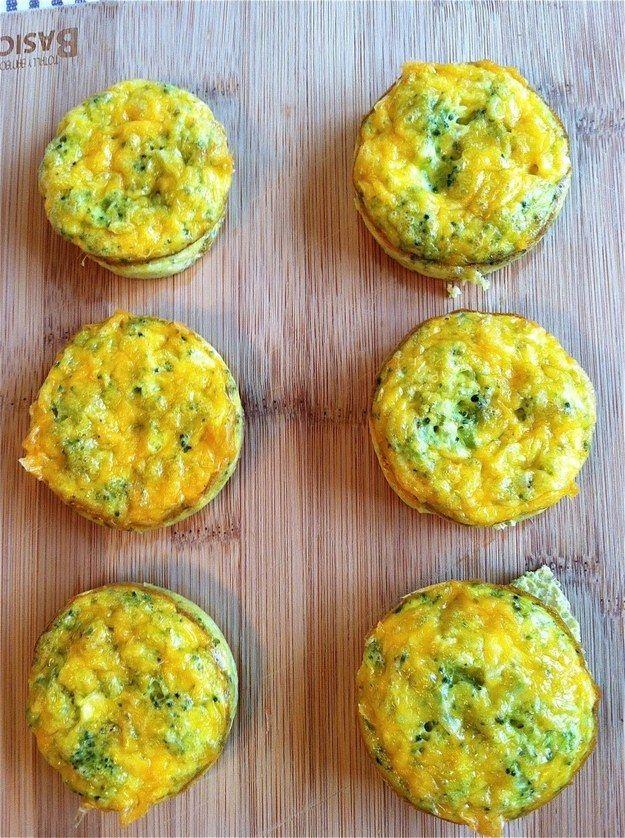 Cheddar-Brokkoli-Ei-Muffins   21 super leckere, gesunde Snacks mit nur drei Zutaten