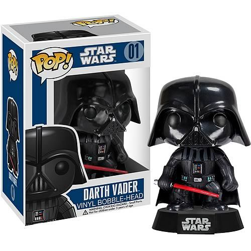 It's the dark lord of the Sith as a Star Wars Darth Vader Pop! Vinyl Figure Bobble Head. He finds your lack of him in your collection disturbing.  This adorable 3 3/4-inch collectible Star Wars Darth Vader Pop! Bobble Head! looks amazing. He comes with his lightsaber and his head turns an