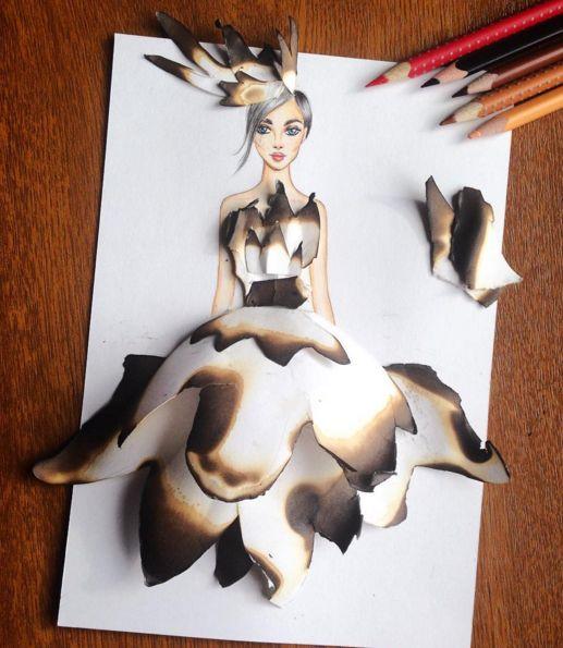 Arte, é como podemos definir as criações do Armênio, Edgar Artis. Ele desenha diversos tipos de vestidos das maneiras mais incríveis e criativas possíveis! Confira!
