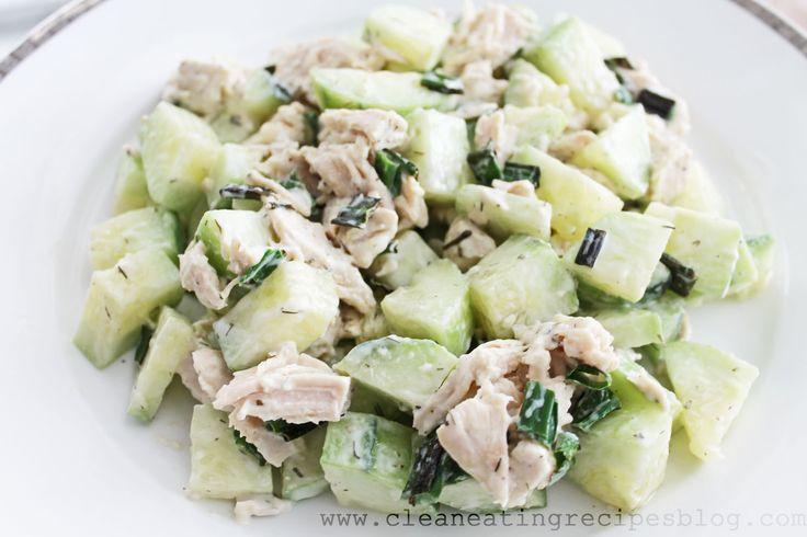 Clean Eating Recipe – Cucumber and Chicken Salad   Clean Eating Recipes