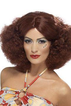 70-luvun afro-peruukki. Tämä hiustyyli on asiaankuuluva lisä 70-luvun diskoasuun ja sopiihan tämä hyvin muihinkin naamiaisasuihin!