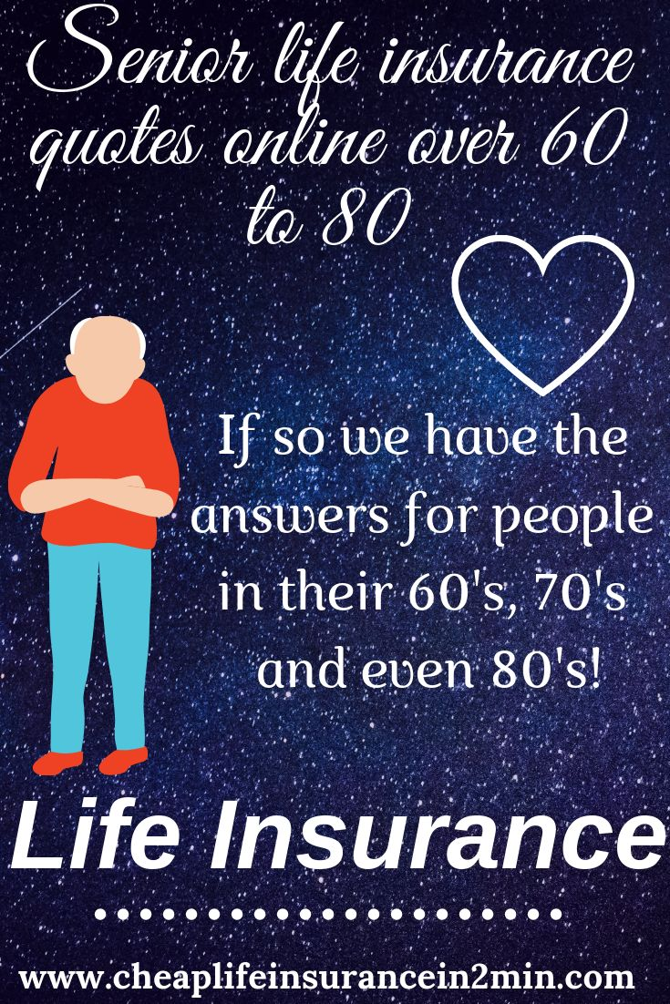 Online Senior Life Insurance Plans and Policies Over 60 to