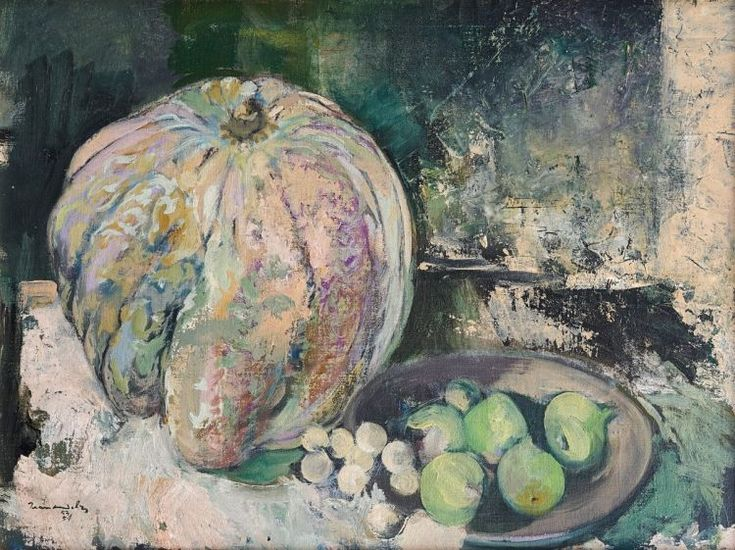 Jean Max Friedrich Welz South African 1900-1975 Still Life with Pumpkin and Fruit