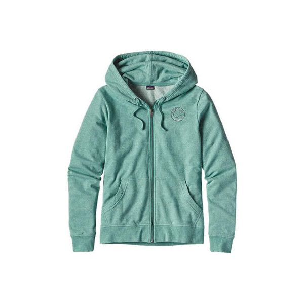 Women's Patagonia Sea Spirit Lightweight Full-Zip Hoody (£71) ❤ liked on Polyvore featuring tops, hoodies, green top, graphic hoodies, blue hoodie, blue hooded sweatshirt and patagonia hoody