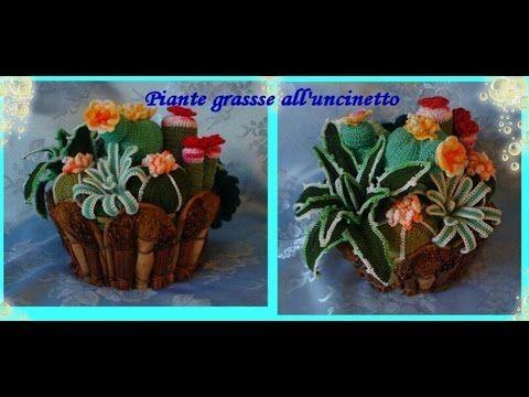 Piante grasse all'uncinetto Crochet succulents
