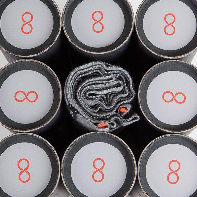 Snood gris souris & orange fluo - Écharpe tubulaire 100% Française - https://snood.fr/la-gamme/12-gris-souris-orange-fluo.html -