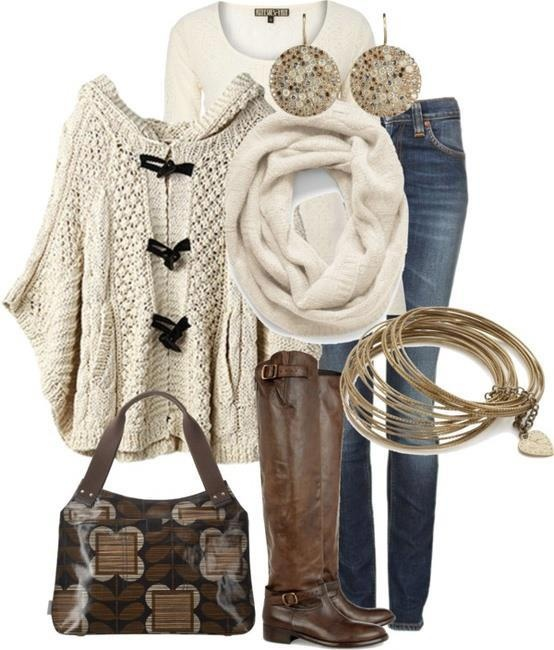 Oh man, I could get so down with this. I adore the poncho! Sweet nuggets.