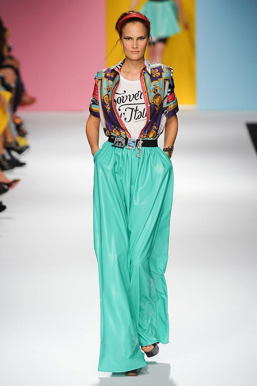 green mint wide pants | frankie morello  spring summer 2012