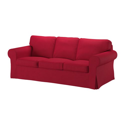 IKEA - EKTORP, Sofa cover, Nordvalla red, , The cover is easy to keep clean as it is removable and can be machine washed.A range of coordinated covers makes it easy for you to give your furniture a new look.