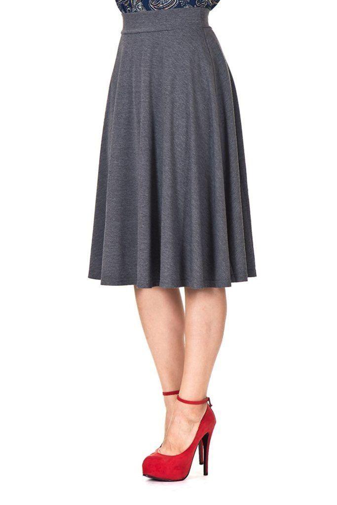 36ea594720 Stretch is Comfort Women's A-Line Knee Length Flowy Skirt | Women's ...