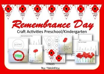 Remembrance Day Craft Preschool and Kindergarten