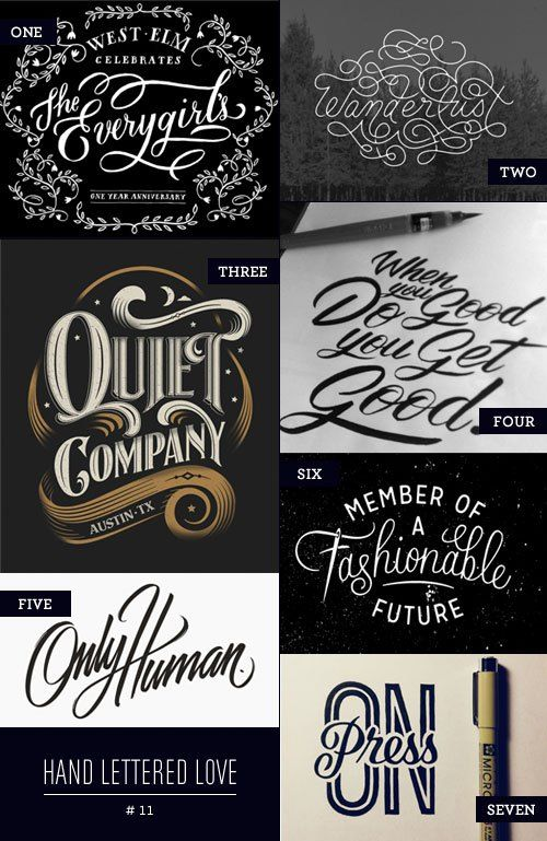 Hand Lettered Love #typography #displayfonts