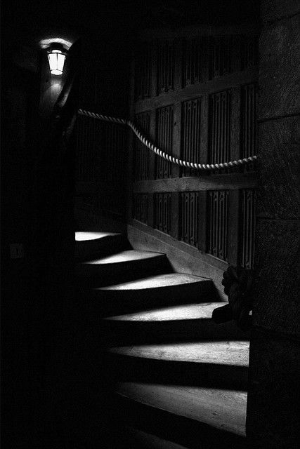 ☾ Midnight Dreams ☽ dreamy  dramatic black and white photography - stairs