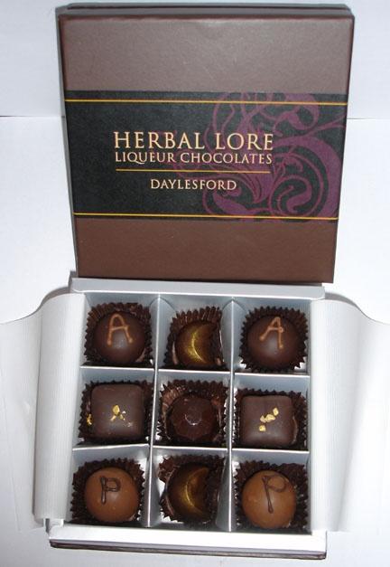 Mmm.. liqueur chocolates.. best of both worlds! www.bestofdaylesford.com/herbal-lore-liqueurs/