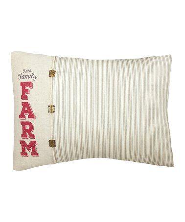 Love this 'Faith Family Farm' Throw Pillow on #zulily! #zulilyfinds