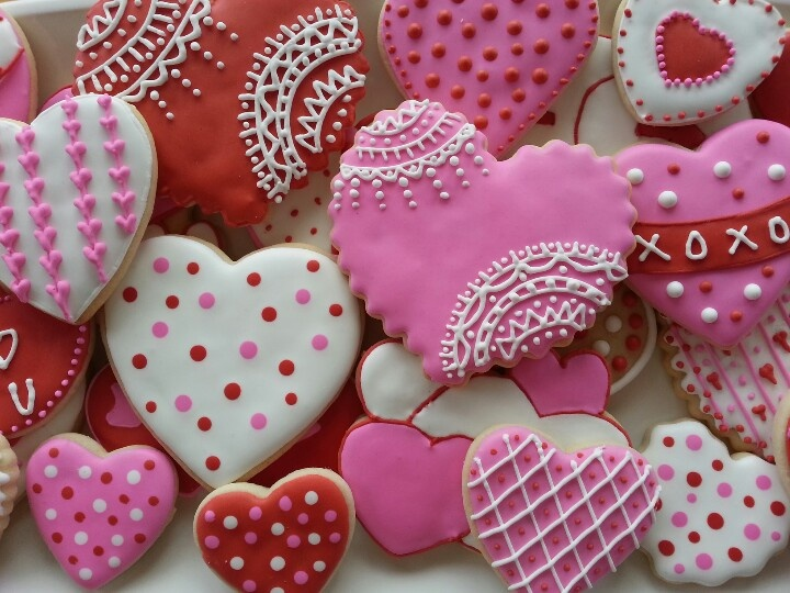 valentine day sugar cookies