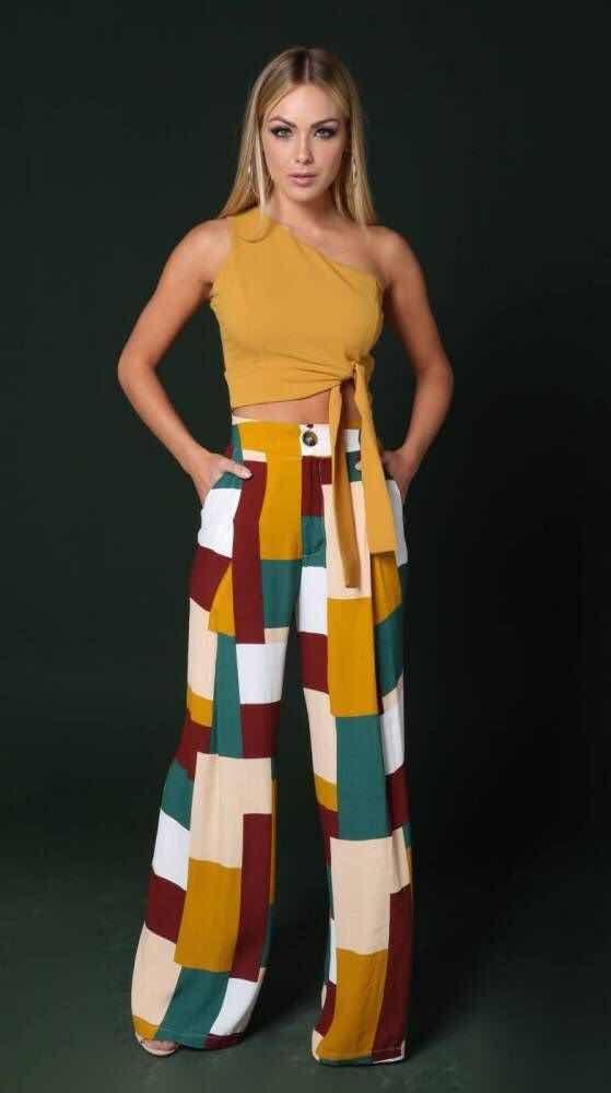 7f397a1f 56+ Outfits con Pantalones Palazzo para lucir con Estilo (2019 ...