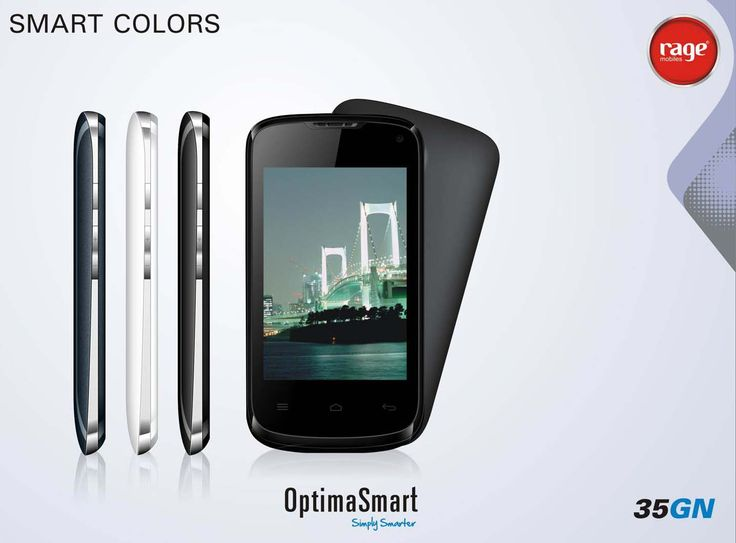 OPS 35GN comes with smart colors! Enjoy the vivid colors and make your life more colourful.  Smartest In The Lot!  #OptimaSmart #SmartPhone #RageMobiles   Explore: http://bit.ly/1xalOMO