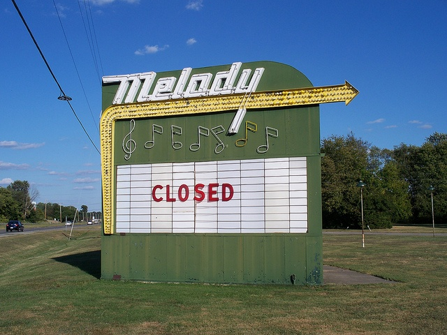 Sign for Melody Drive-In, Springfield, Ohio - I have memories of going there when I was a kid