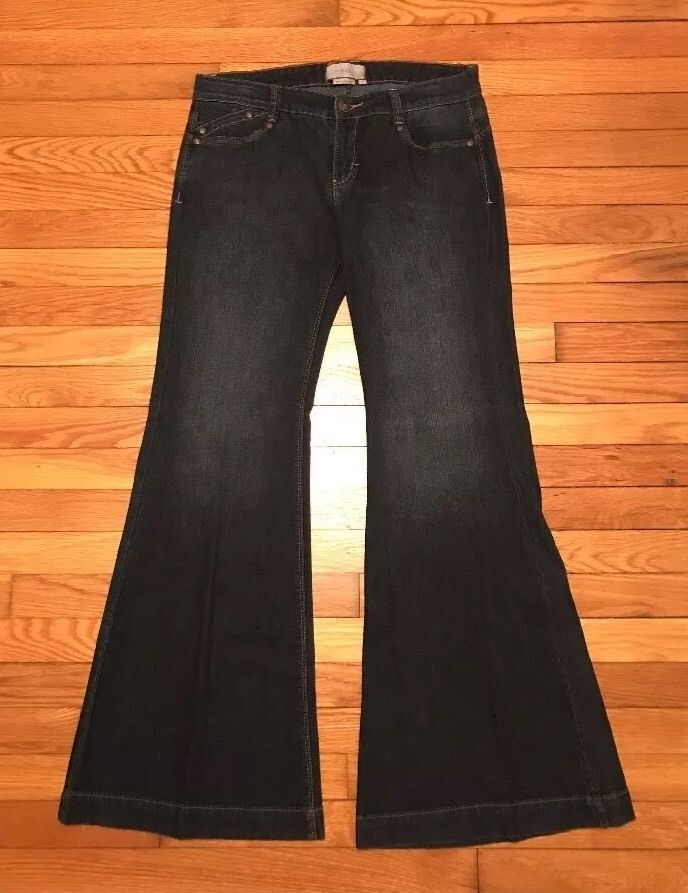 To The Max Size 10 Flare Womens Dark Wash Jeans *Free Shipping*    eBay