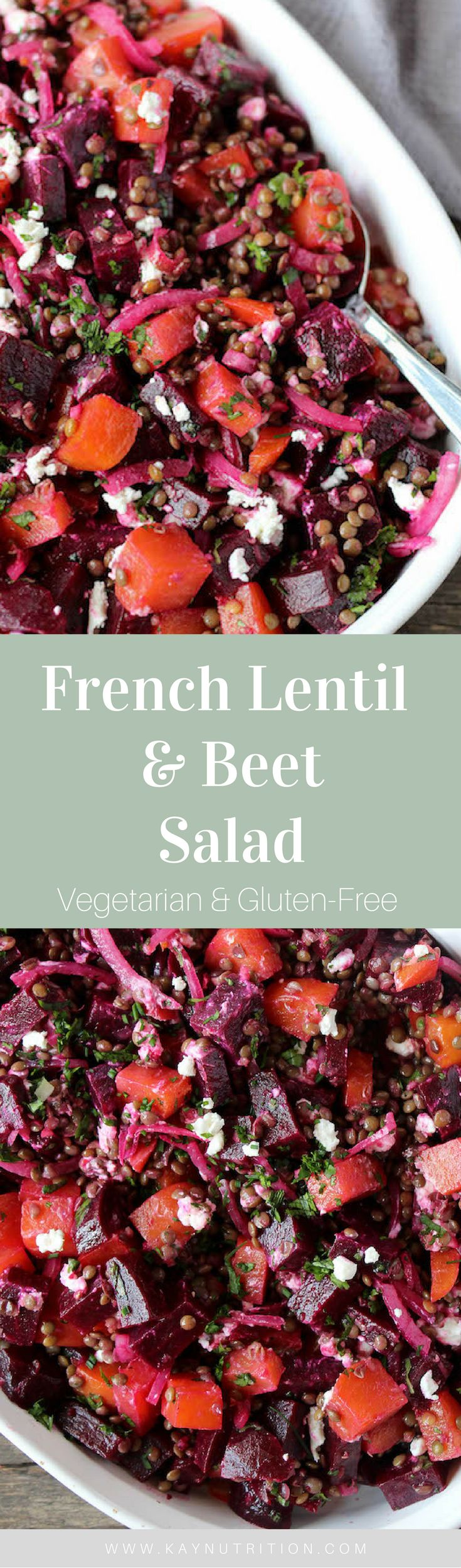 This French Lentil & Beet Salad pairs sweet, savoury and salty flavours to make an incredible salad that is perfect for any summer party of BBQ.