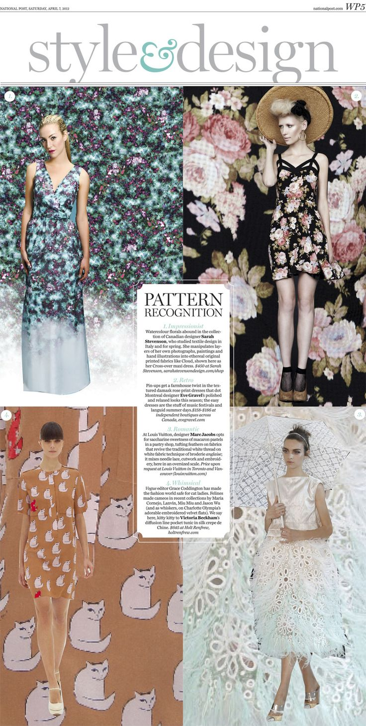 Roses and blossoms and cats, oh my! Fashion pattern recognition.: National Posts, Maxi Dresses, Fashion Patterns, Patterns Recognition, Design Patterns, Prints Maxis Dresses, Life Style, Fashion Styles Lipgloss, Fashion Fun