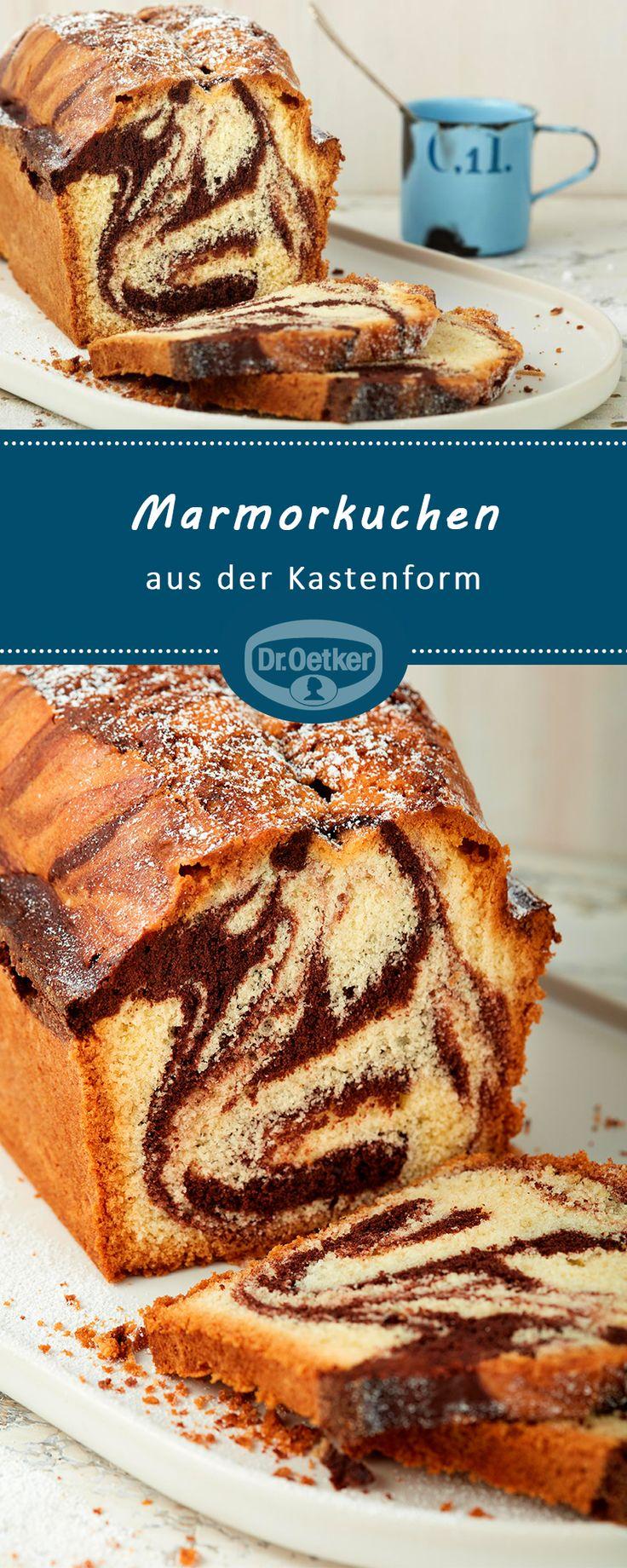 Marmorkuchen aus der Kastenform (25 x 11 cm): Saftiger Biskuitkuchen in Marmoropti …   – Traumhafte Kuchen-Rezepte
