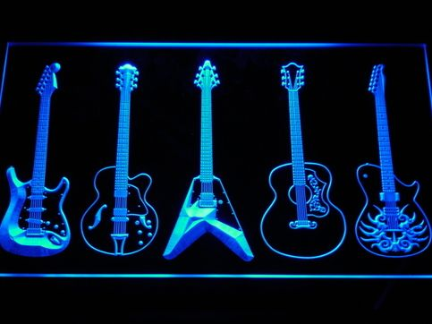 Guitars Weapon Music Rock Band Man Cave Home Studio Jamming neon LED Store sign night light signboard  sold by AmniSign. Shop more products from AmniSign on Storenvy, the home of independent small businesses all over the world.