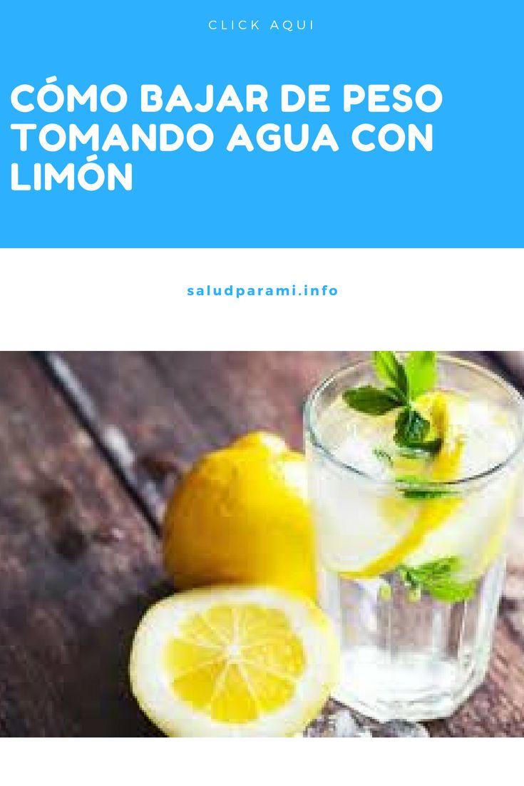 El agua con limon ayuda a perder peso