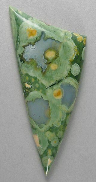 Silverhawk's designer gemstones. Rain Forest jasper cab