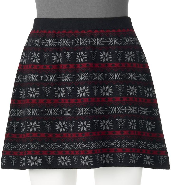 Juniors' Joe B Fairisle Skater Skirt