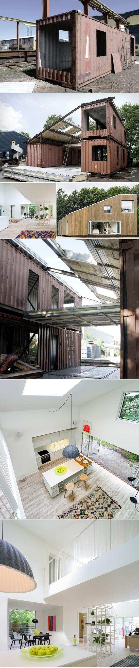 Upcycled Shipping Container House ♥ ♥