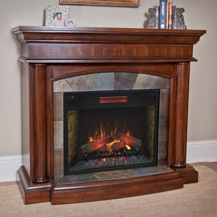 Electric Fireplaces Clearance | Aspen Electric Fireplace Mantel Package in Meridian Cherry - 28WM1751 ...