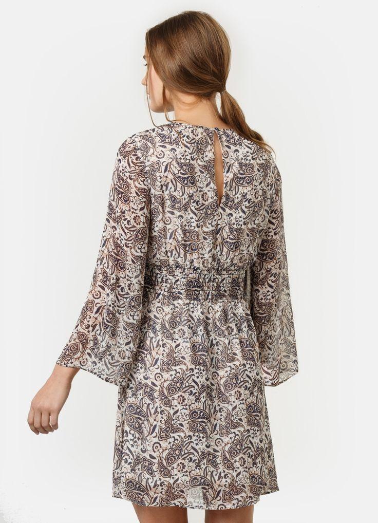 Купить Платье из шифона с принтом (LR1Q31) в интернет-магазине одежды O'STIN