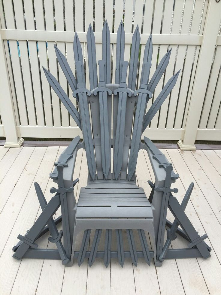 Game of Thrones chair. Adirondack chair as a base. Handcrafted wood swords painted and assembled on the frame. #AdirondackChair