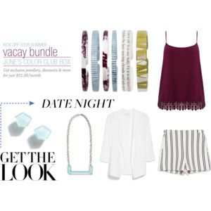 Whether you're dressing up or dressing down on date night June's #vacaybundle Color Club Box will make your outfit POP!  #mycbastyle #colorclubstyle #colorclub #raffia #novel #threads #purplemose #fullcircle