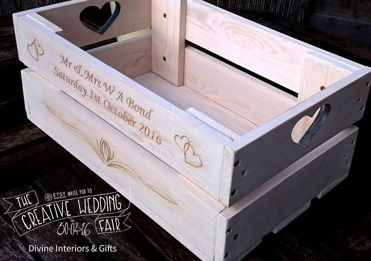 Divine Interiors & Gifts - The Creative Wedding Fair by Etsy Manchester - Wedding Crate - Wedding Gift