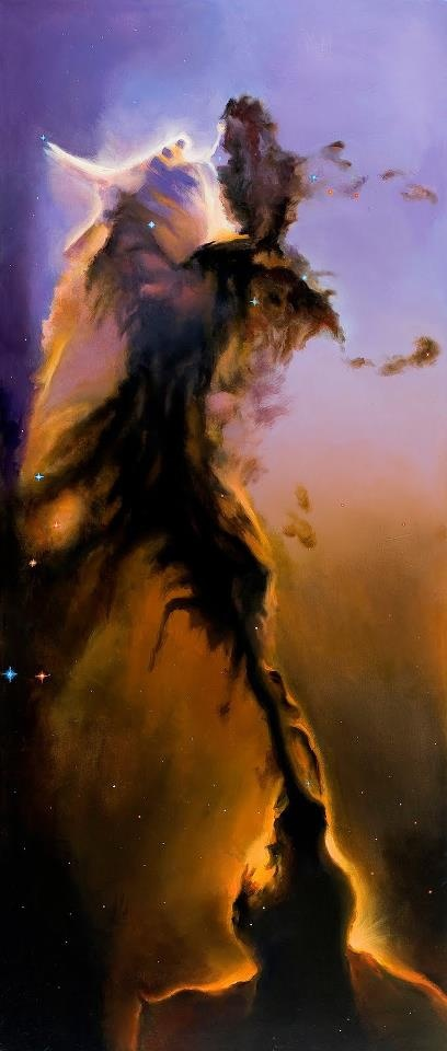 THE PILLARS OF CREATION IN THE EAGLE NEBULA 7.000 LIGHT YEARS .