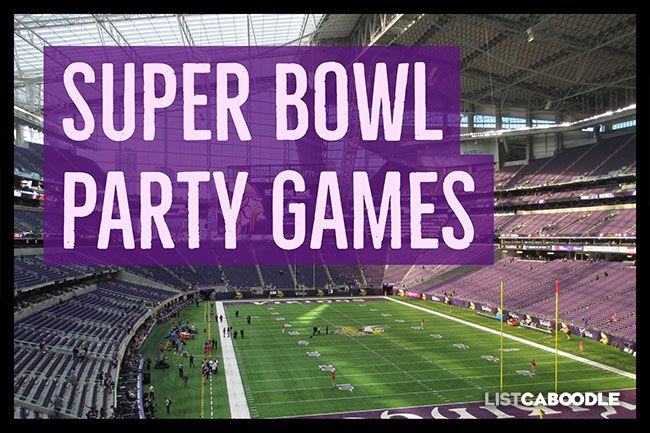 Fun Super Bowl Party Games Superbowl Party Games Superbowl Party Party Games