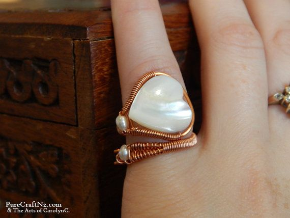Mother of Pearl and Baroque Freshwater Pearl Ring