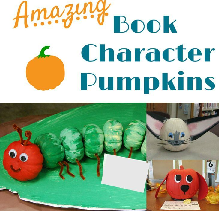 The bonus featured post from week 65 of the SHINE Blog Hop is: Amazing Book Character Pumpkin Decorating Ideas by P is for Preschooler!