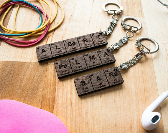 30 best keychains images on pinterest periodic table name keychain gifts for him gifts for her urtaz Image collections