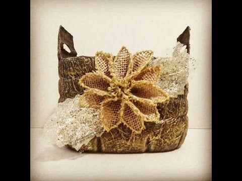 Cómo reciclar una caja de zapatos - decorada imitando plata antigua repujada - YouTube